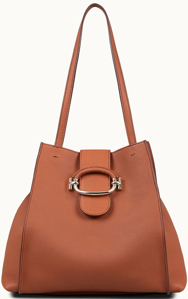 Tods Double T Shopping Bag With Ring