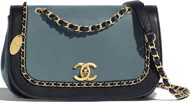 Chanel Flap Woven Chain Around Bag