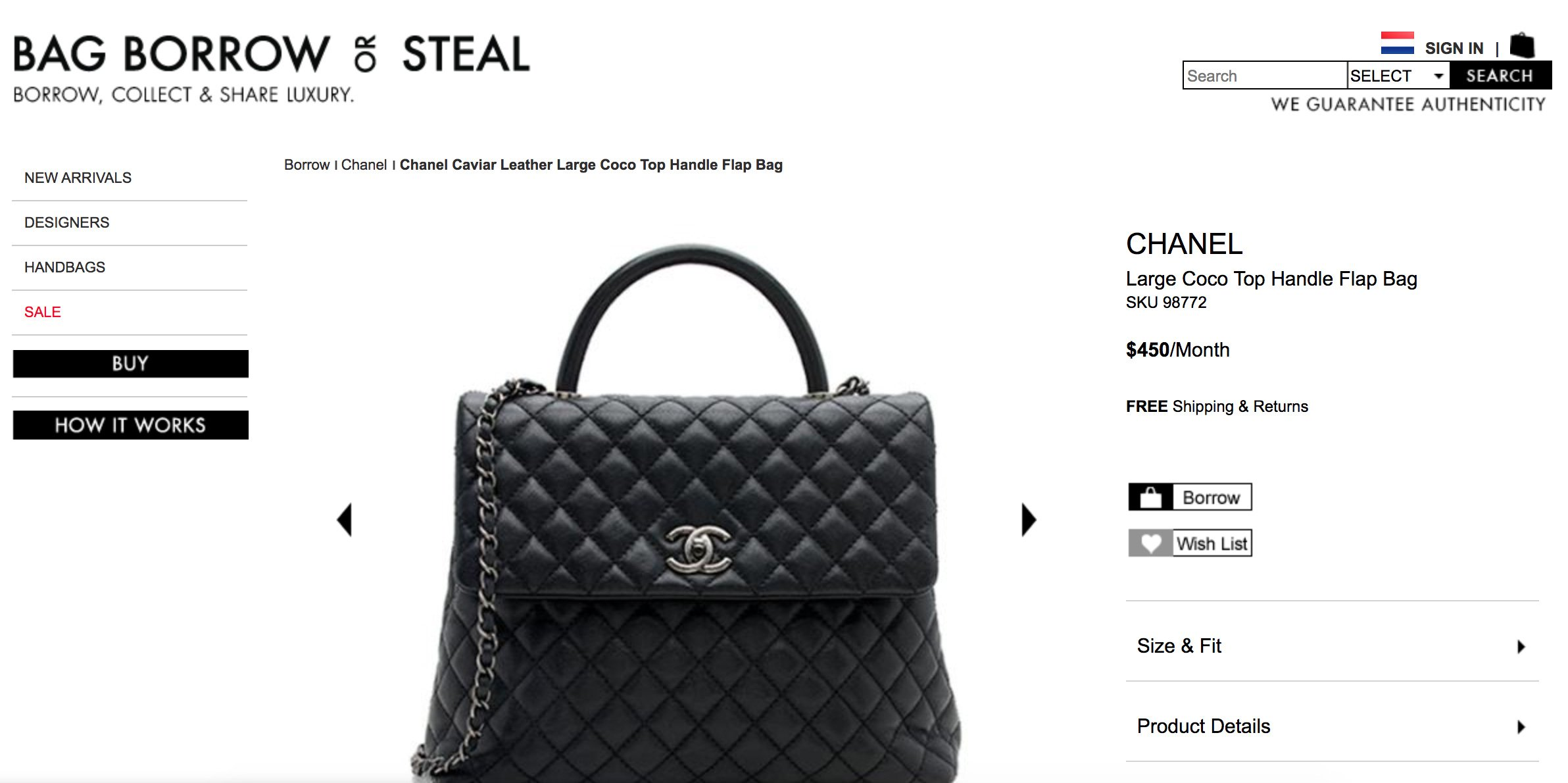How To Rent A Chanel Bag