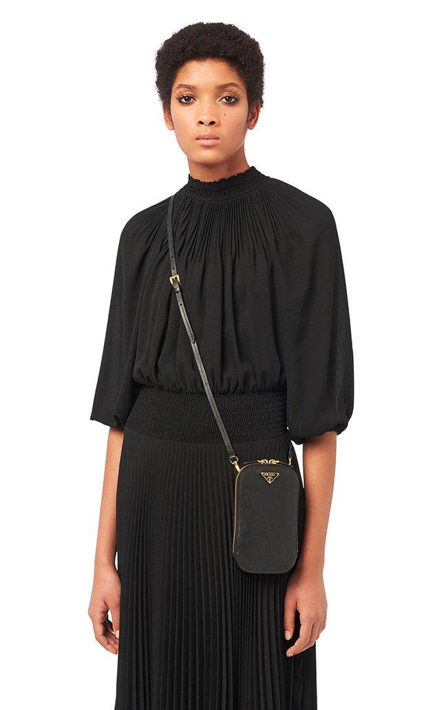Prada Vertical Mini Saffiano Bag