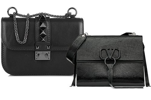 Valentino All Black Bags thumb
