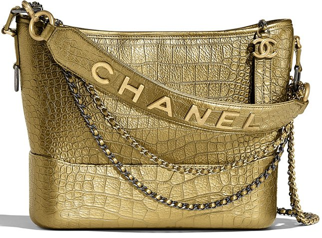 Chanel's Gabrielle Croc Embossed Bag With Signature Strap