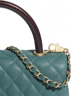 Chanel Coco Handle Bag With Lizard Embosse thumb