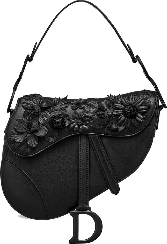 Dior Embroidered Flowers On Bag Collection