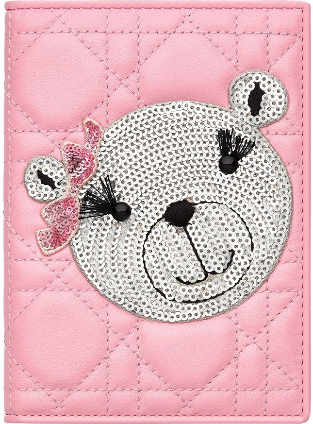 Dior TeddyBear Passport Holder