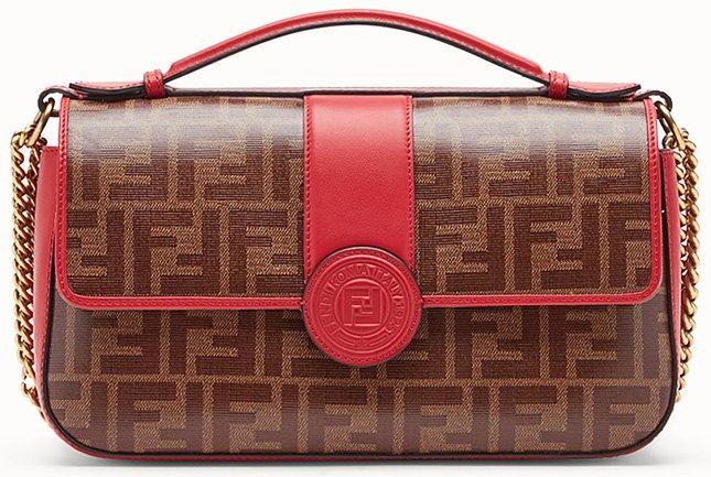 Fendi Double F Handle Bag