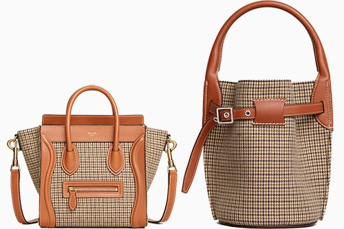 Celine Tweed Gingham Bag Collection thumb