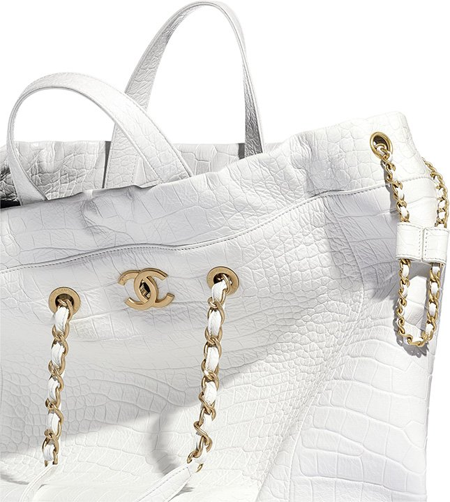 Chanel Croc Embossed Shopping Bag