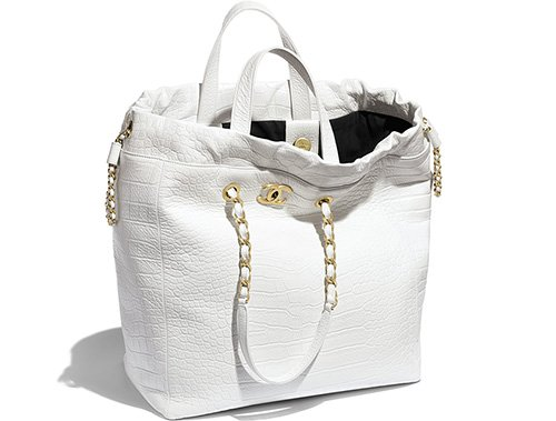 Chanel Croc Embossed Shopping Bag thumb