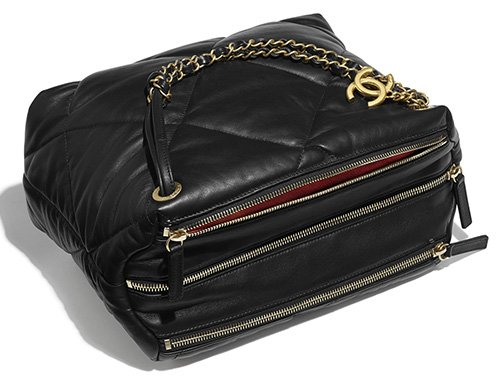 Chanel Large Lambskin Quilted Bowling Bag thumb