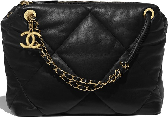 Chanel Large Lambskin Quilted Bowling Bag