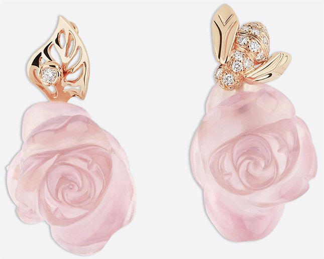 Dior Rose Earring Collection