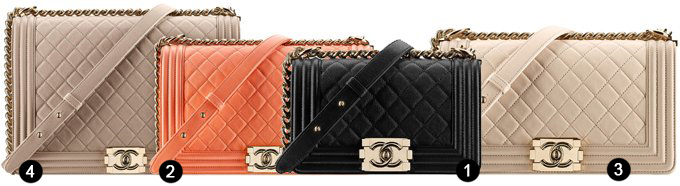 Chanel Boy Bag Sizes with numbers
