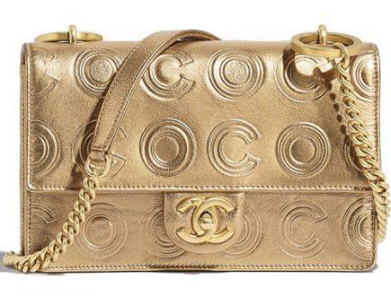 Chanel Gold Circle C Bag thumb