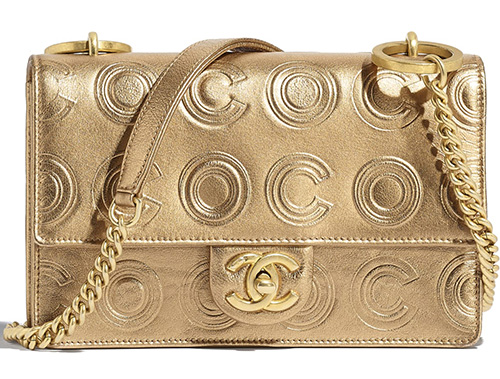 Chanel Gold Circle C Bag thumb