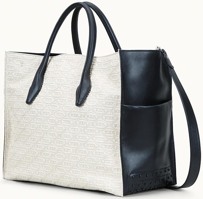Tod's x Alber Elbaz All Over Logo Monogram Print and Shopping Bags