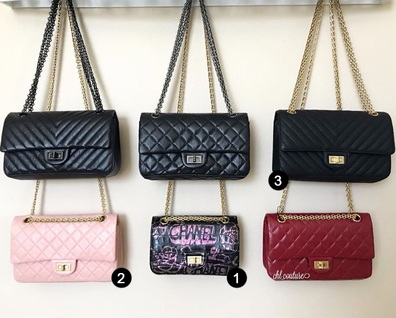 chanel reissue sizes