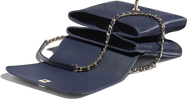 Chanel Calfskin Double Pocket Bag