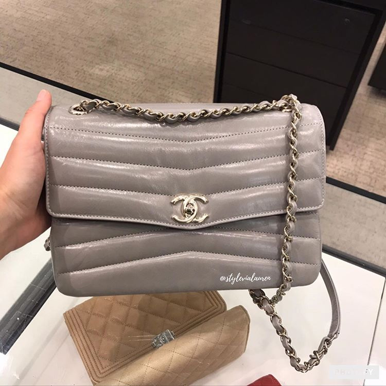 Chanel Double Chevron Bag