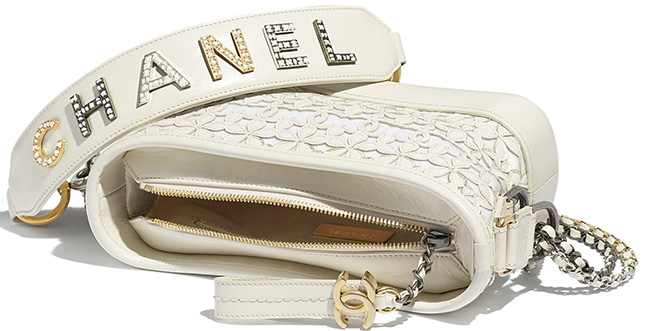 Chanel's Embossed Logo Gabrielle Bag with Bi Color Chain Strap