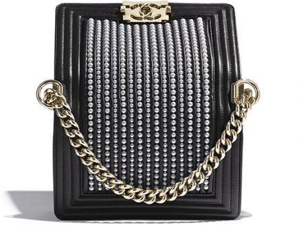 Chanel Boy Vertical Pearl Bag thumb
