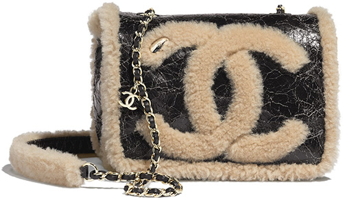 Chanel CC Crumpled Shearling Bag Collection thumb