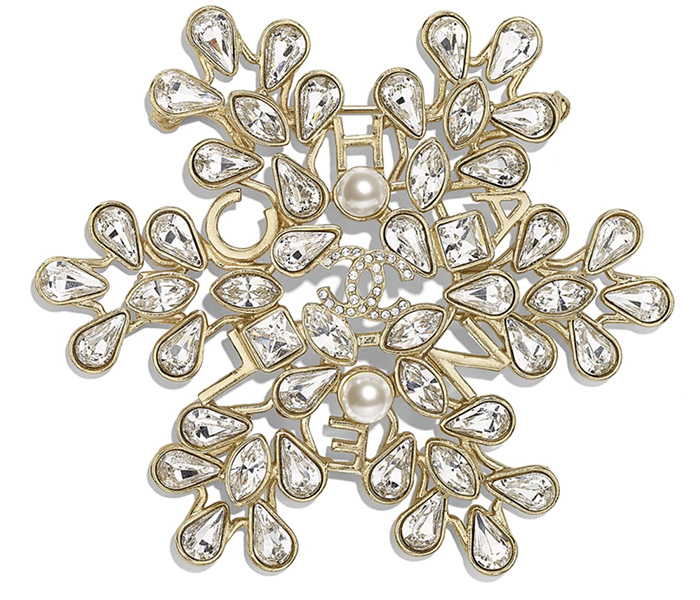 Chanel Heart Pearl and Snow Flake Brooches