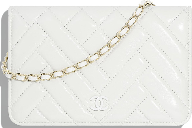 Chanel Mix Quilted Chevron WOC
