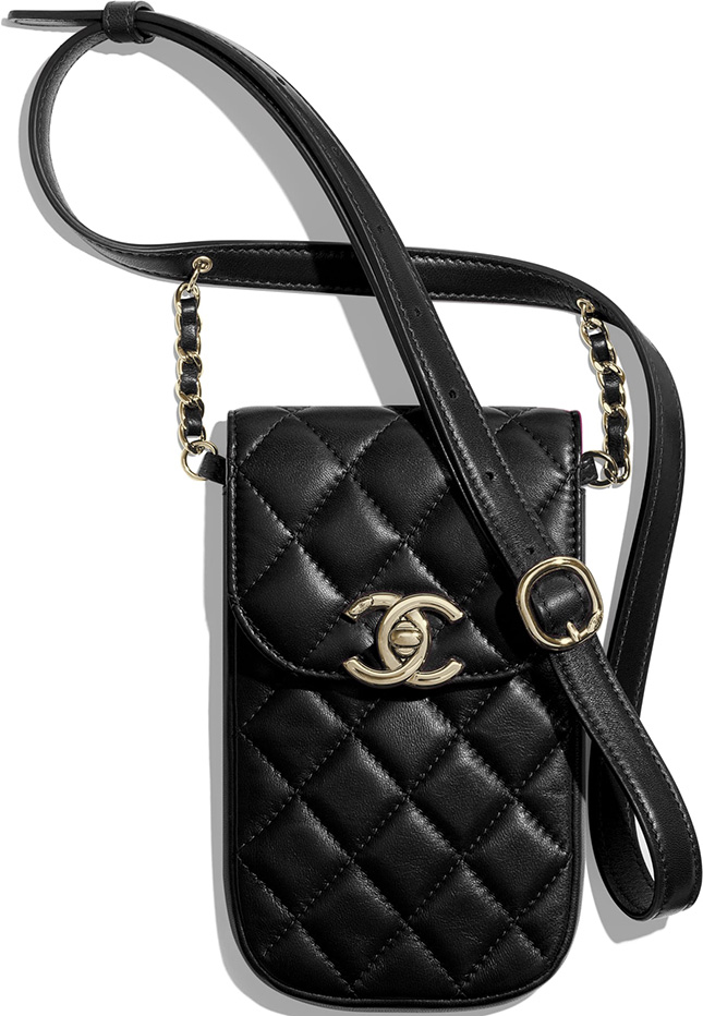 Chanel Phone Clutch With Chain and Waist Bag