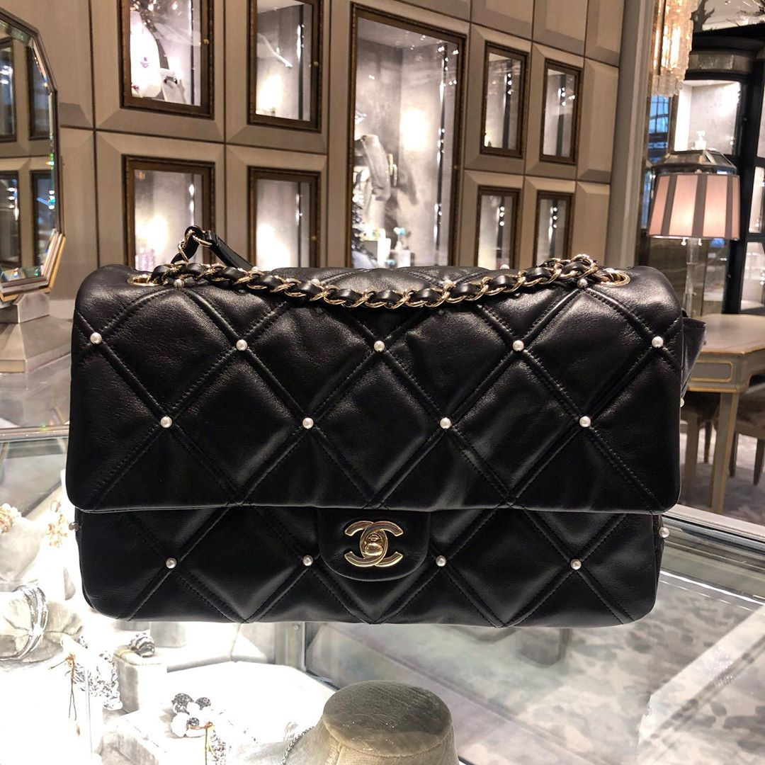 Chanel Quilted With Pearl Bag For the FW Collection