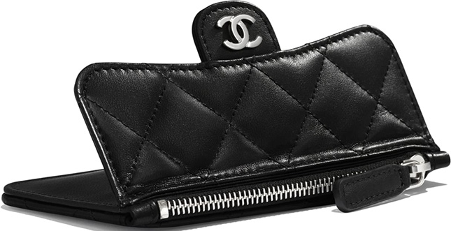 Chanel Zip Flap Card Holder With Multi Back Slots