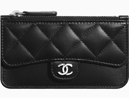 Chanel Zip Flap Card Holder With Multi Back Slots thumb
