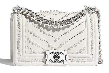 Chanel Boy Chevron Pearl Bag thumb