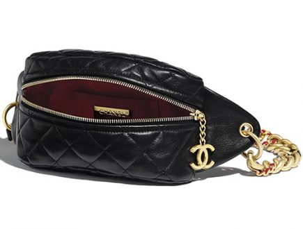 Chanel Chain Leather Link Waist Bag thumb