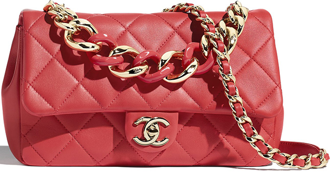 Chanel Flap Bag With Large Bi Color Chain