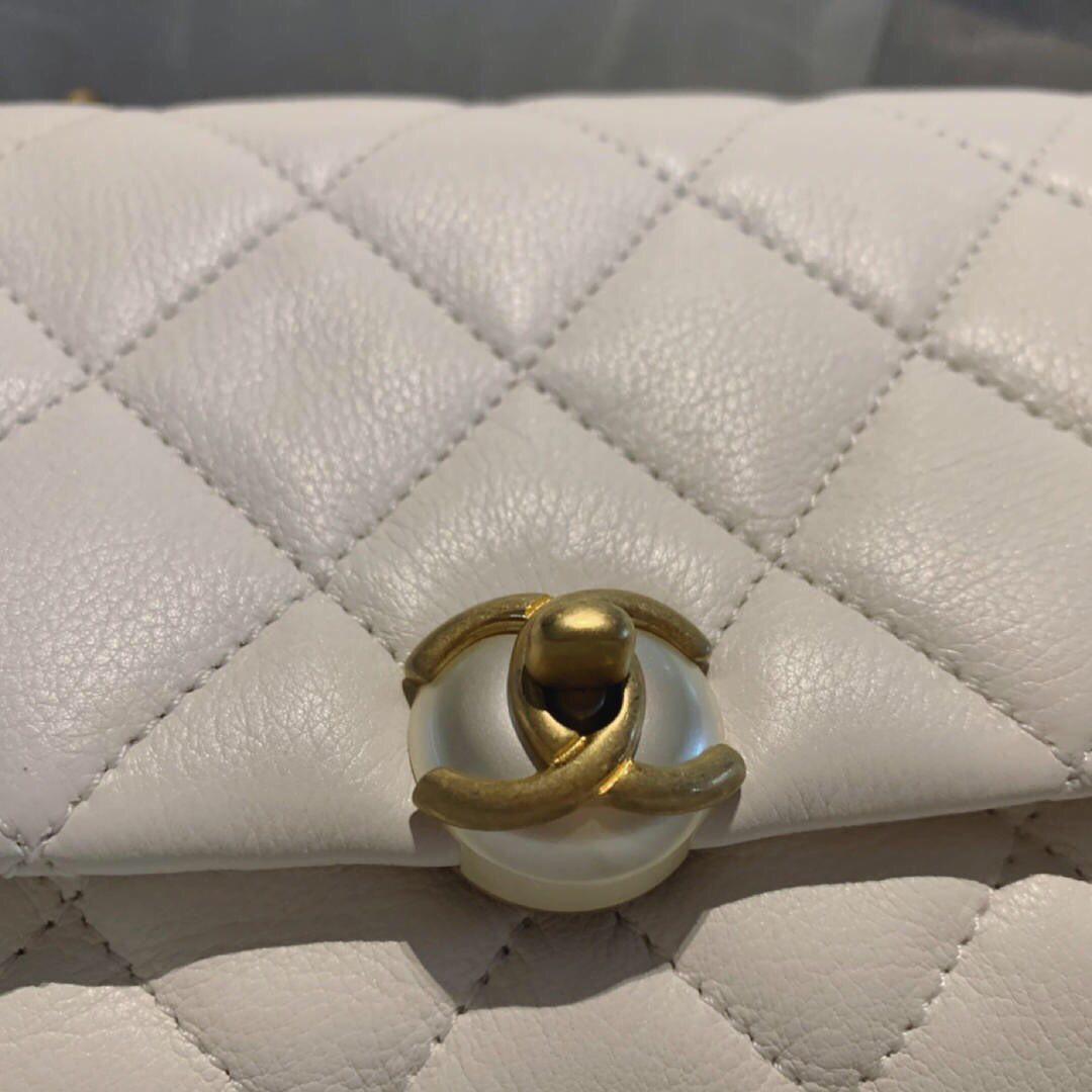 Chanel Pearl CC Clasp Bag