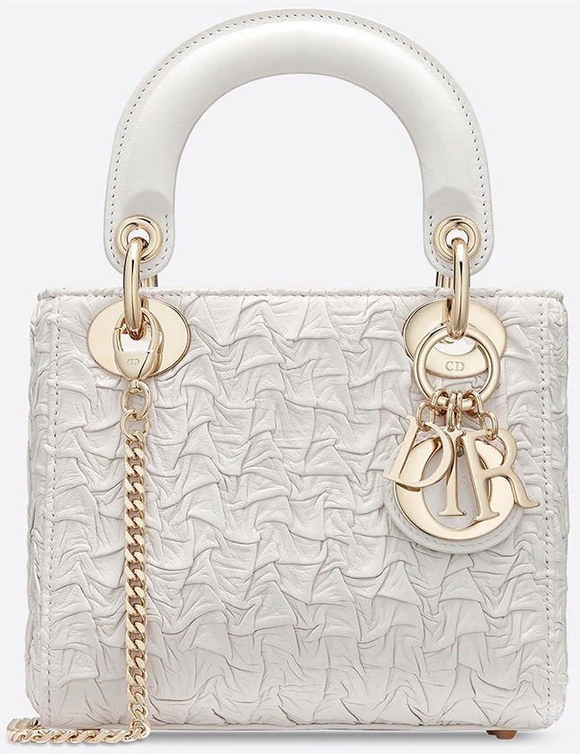 Dior's Wavy Crinkled Lambskin Leather