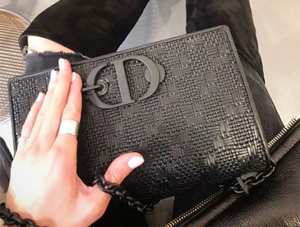 Dior All Black Montaigne Bag With New Print thumb