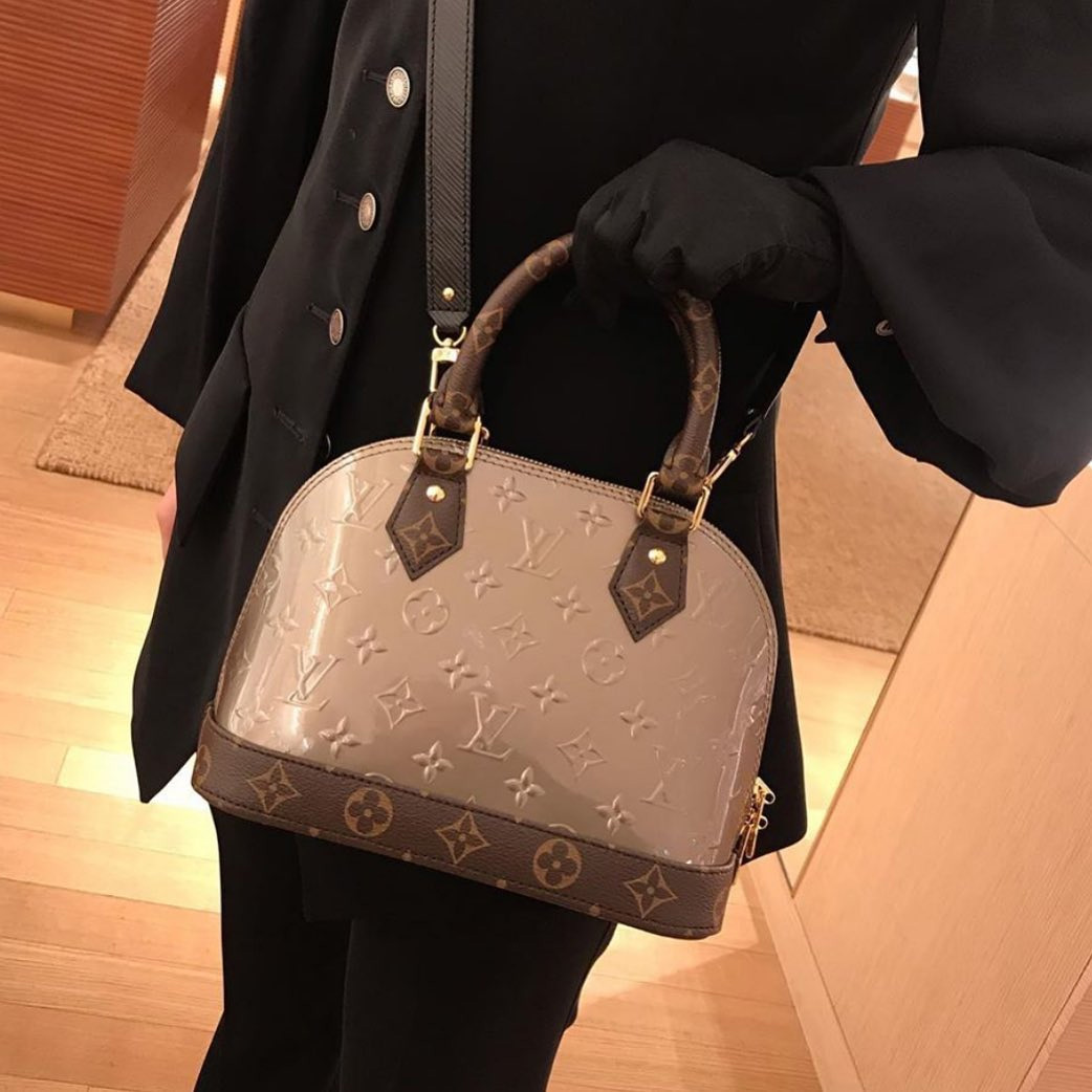 Louis Vuitton Alma Monogram Vernis Canvas And Epi Bag Bragmybag