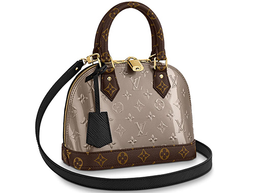 Louis Vuitton Alma Monogram Vernis Canvas And Epi Bag thumb
