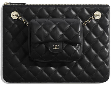 Chanel Case with Square Flap Bag thumb