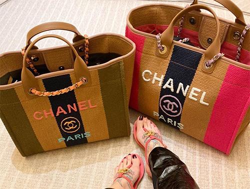 Chanel Viscose Multicolor Deauville Bag thumb