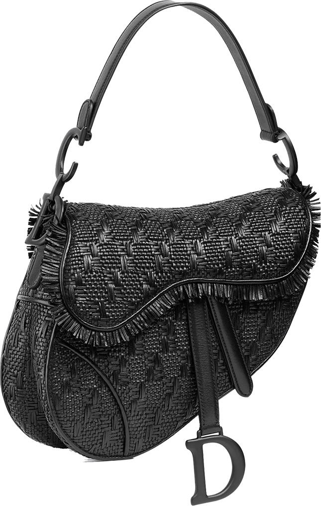 Dior Saddle Braided Leather Strips Bag