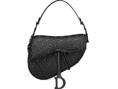 Dior Saddle Braided Leather Strips Bag thumb
