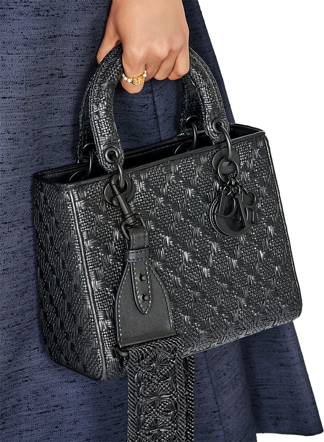 Lady Dior All Black Braided Quilted Bag