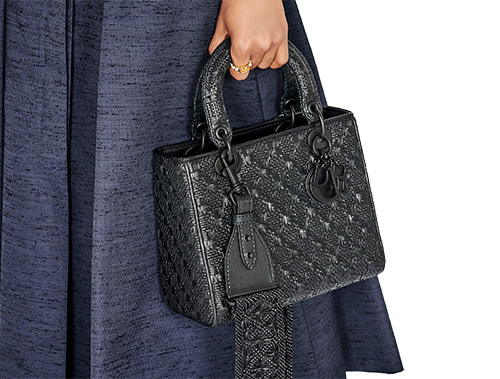 Lady Dior All Black Braided Quilted Bag thumb