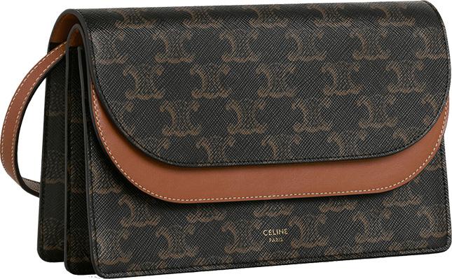 Celine Double Flap Wallet On Strap
