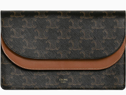 Celine Double Flap Wallet On Strap thumb