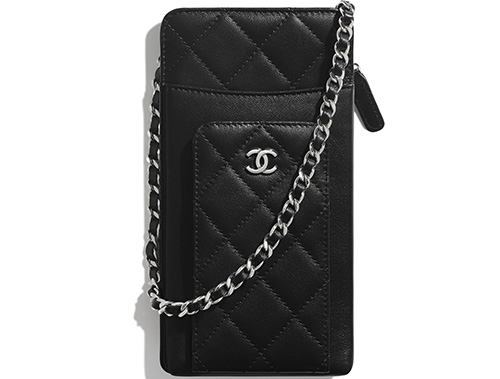 Chanel Compact Double Pouch With Chain thumb