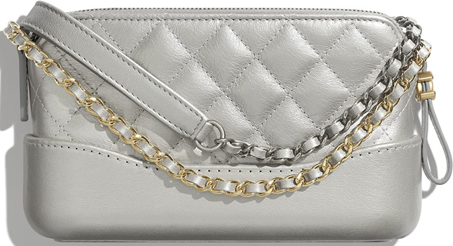 Chanel Gabriele Clutch With Gold And Silver Chain